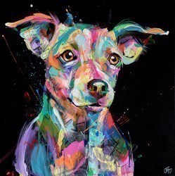 Jack Russell Aura by Jennifer Hogwood -  sized 24x24 inches. Available from Whitewall Galleries